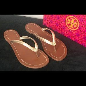 06131e8daed Tory Burch Shoes - ❤ 💕Tory Burch Terra Thong Spark Gold Sandal